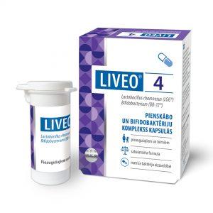 Liveo pienskābās un bifidobaktērijas kapsulas