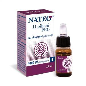Nateo D vitamīna šķīdums eļļā pieaugušajiem un bērniem