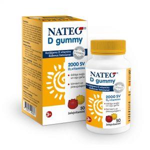 Nateo D Gummy dabisks D vitamīns bērniem