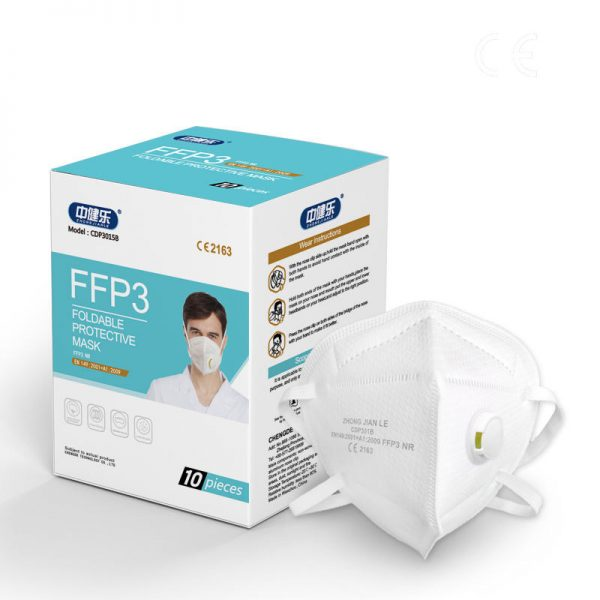 Respirators ar izelpas vārstu FFP3